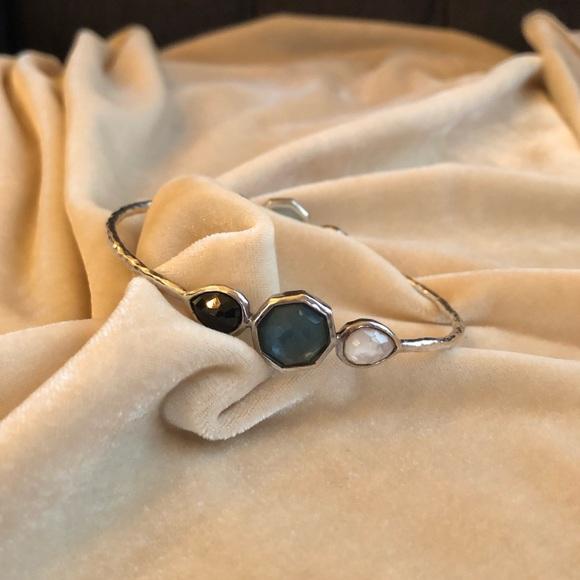 Ippolita Jewelry - Ippolita Sterling Silver Gemstone Triplet Bangle